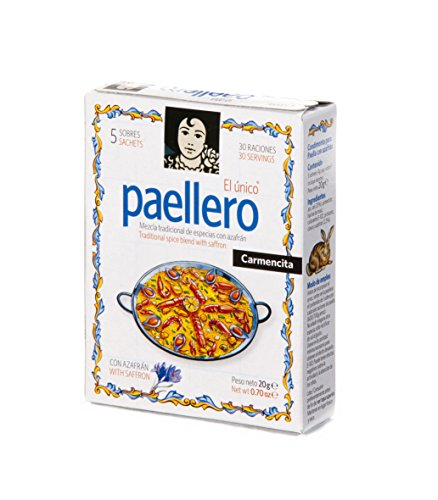 Paellero 20g Safran l'Espagne Original Qualité Supérieure 5 utilise Carmencita
