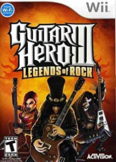 Guitar Hero III: Legends of Rock - Nintendo Wii (Game only) (Renewed)