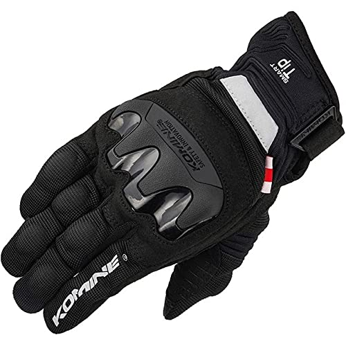 Guantes de Moto de Fibra de Carbono para Hombre, Guantes de Motocross Transpirables de Malla de Verano, Pantalla táctil Gant Moto ML XL XXL-gk-220-black-1-M