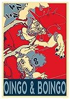 Instabuyポスタージョジョの奇妙な冒険プロパガンダオインゴ&ボインゴ-A3(42x30 cm)