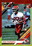 2019 Donruss Optic Red and Yellow #130 Juan Thornhill Kansas City Chiefs RC Rookie NFL Football Trading Card. rookie card picture