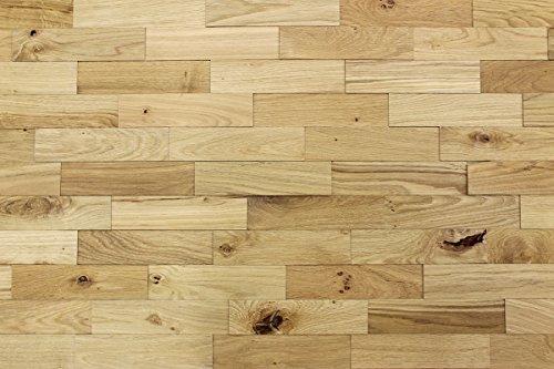 wodewa Wandverkleidung Holz 3D Optik Eiche Rustikal 1m² Wandpaneele Moderne Wanddekoration Holzverkleidung Holzwand Wohnzimmer Küche Schlafzimmer Strukturiert Geölt