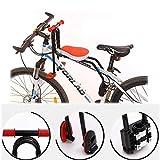 Olz Sillín De Bicicleta, Asiento De Bicicleta para Niños Asiento De Bicicleta para Niños con Montaje Frontal con Manija Desmontable, para MTB, Vehículos Recreativos para Mujeres,Rojo