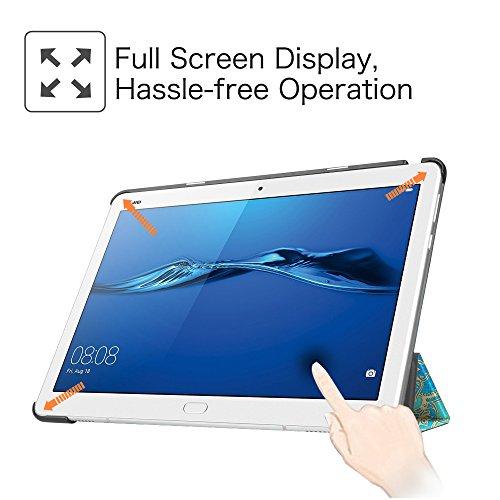 Fintie Huawei Mediapad M3 Lite 10 Hülle - Ultra Dünn Superleicht SlimShell Case Cover Schutzhülle Etui Tasche mit Zwei Einstellbarem Standfunktion für Huawei Mediapad M3 Lite 10 Zoll, Jade - 4