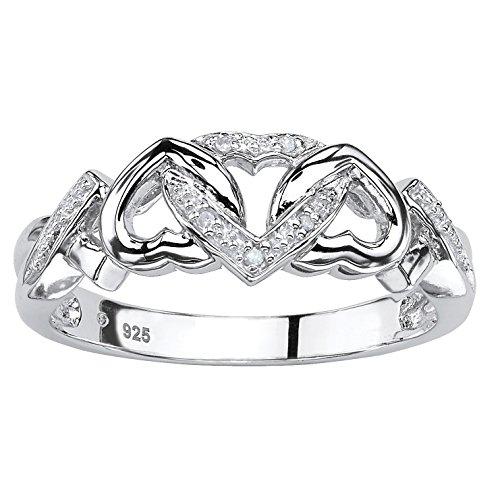 Palm Beach Jewelry Diamond Accent Platinum Over Sterling Silver...