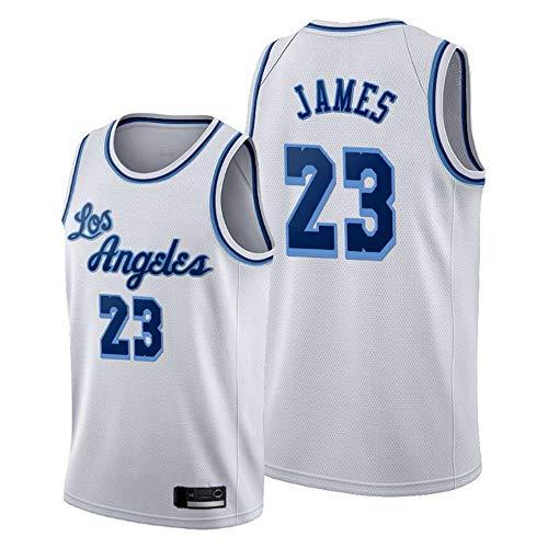 YZQ Jersey para Hombres - Los Ángeles Lakers # 23 Lebron James - Baloncesto NBA Retro Transpirable Gimnasio Quick-Secking Chaleco Deportivo Top,XXL(185~190cm/95~110kg)