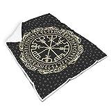 Mentmate Store Viking Vegvisir - Manta universal cómoda y lujosa, ideal para invierno, para estudiantes, regalo blanco, 150 x 200 cm