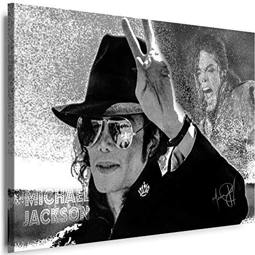 Myartstyle - Bilder Michael Jackson Band 70 x 50 cm Leinwandbild XXL - Wandbild 1 Teilig - Gerahmter Kunstdruck Musik w-s-2023-0149