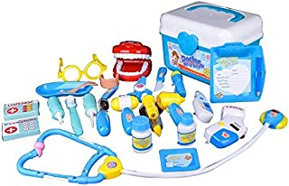 KIDS DOCTOR PLAY SET ROLE PLAY DRESS UP KIT 25 PCS FANCY DOCTORS CHILDREN PRETEND PLAYSET-Deluxe Edition