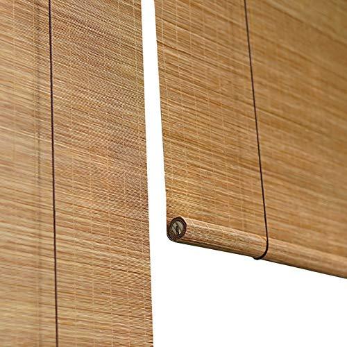 Bambus Roller Fenster Jalousien Roll Up Rolläden, 60% Shading Lichtfiltervorhänge Balkon Veranda Carport, Größe Customization (Farbe : Hook up, größe : 100x200cm)
