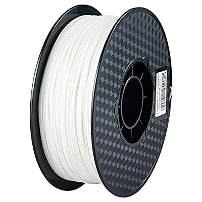 Bxvaty 1kg Spool PLA 3D Printer Filament Diameter 1.75mm Dimensional Accuracy +/- 0.02 mm Filament for FDM Printers or 3D Pen - Easy to Print (White)