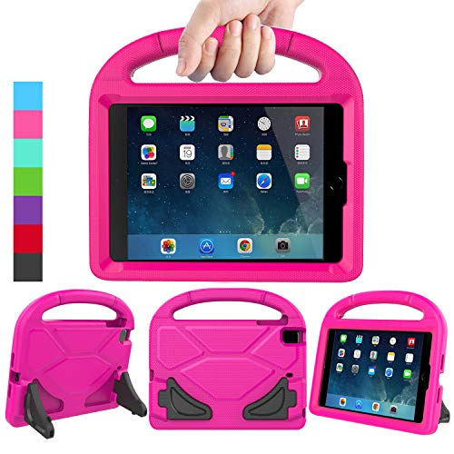 LEDNICEKER Kids Case for iPad Mini 1 2 3 4 5 - Light Weight Shock Proof Handle Friendly Convertible Stand Kids Case for iPad Mini, Mini 5 (2019), Mini 4, iPad Mini 3rd Gen, Mini 2 - Magenta Rose