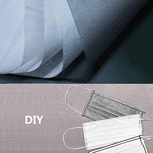 Daily Necessities - Set desechable no tejido de 4 capas, tejido filtrante antiestático de alta eficiencia tejido no tejido profesional hecho a mano, puente nasal + línea auricular gris