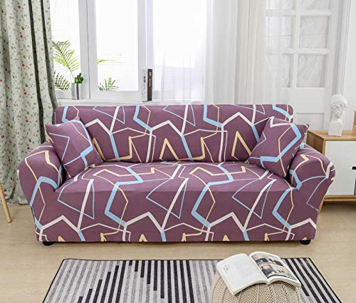 Allenger Funda de Fofá Elástica,Living Room Sofa Cover, Elastic Sofa Cover, Chair Protection Cover-Color 3_190-230cm