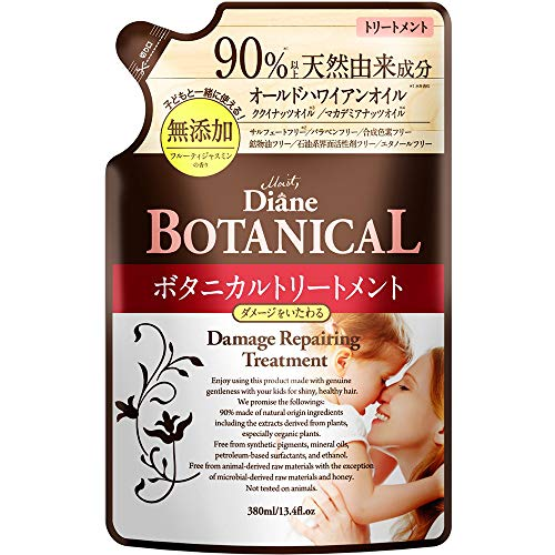 Moist Diane Botanical Hair Ttreatment 380ml - Damage Repairing - Refill (Green Tea Set)