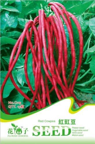 Semences de légumes rouges angle de haricot graines de caroube longue 15 pcs / sac de graines d'emballage d'origine pour la maison et le jardin de bonsaïs d'intérieur