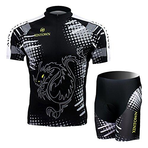 LPATTERN - Conjunto de ciclismo para hombre de verano, maillot de manga...