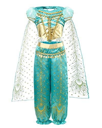 JiaDuo Girls Princess Costume Party Halloween Fancy Dress Up 3-4T Green