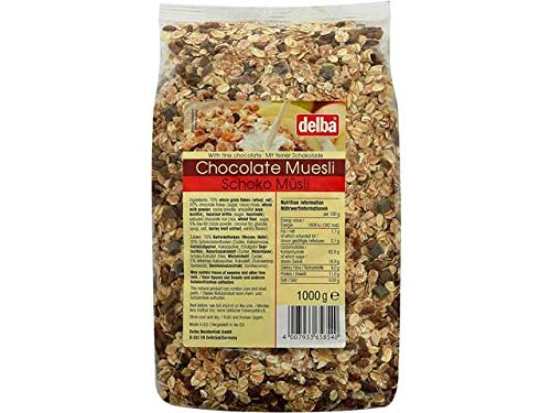 デルバ チョコレートミューズリー 1kg 1ケース(10袋入り)