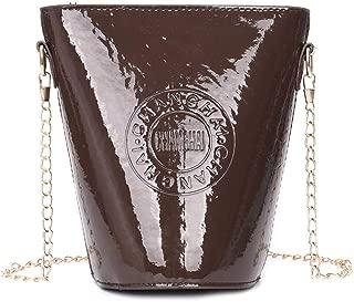 Docooler Fashion Women Mini Crossbody Bag Bucket PU Leather Chain Shoulder Messenger Bag Handbag