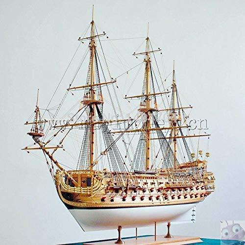 SIourso Maquetas De Barcos De Madera Escala 1/50 Velero Clásico Kits De Maquetas De Madera Modelo De Buque De Guerra San Felipe Instrucciones En Inglés