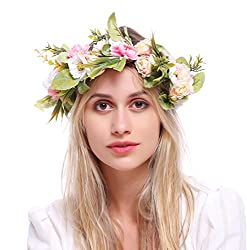 Image: Love Sweety Rose Flower Headband Floral Crown Garland Halo