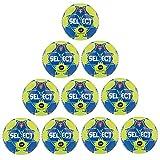 Fan Sport 24 Select Ballon de Handball Maxi Grip 2.0 Jaune Lot de 10 2 Bleu