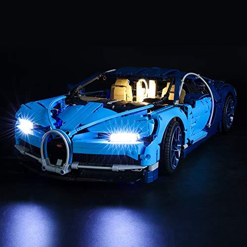 BRIKSMAX Kit de LED pour Lego Technic Bugatti Chiron,Compatible avec la Maquette Lego 42083, La Maquette de Construction n'est Pas Incluse