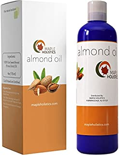 Pure Sweet Almond Oil for Skin Face and Hair Great Massage & Aromatherapy Carrier Oil Anti Aging Skin Moisturizer and Hair Conditioner Treatment Beauty Oil for Dryness with Antioxidant Vitamin E