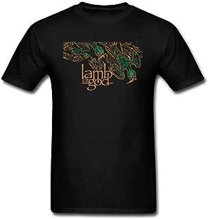 VEBLEN Men's Lamb of God Design Cotton T Shirt