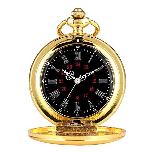 LEYUANA Reloj de Bolsillo de Cuarzo con Forma de Bola Negra,