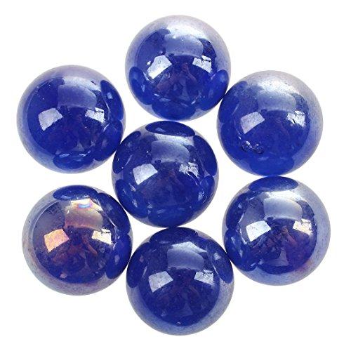 TOOGOO(R) Murmeln 16mm Glasmurmeln Knicker Glaskugeln Deko Spielzeug Dunkelblau