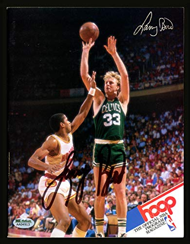 Larry Bird Boston Celtics NBA Hand Signed 16x20 Photograph 1987 Finals Horizontal