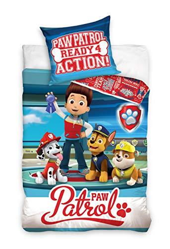 Paw Patrol Duvet Cover Set 140x200 CM + Pillowcase 65x65 CM 100% Cotton