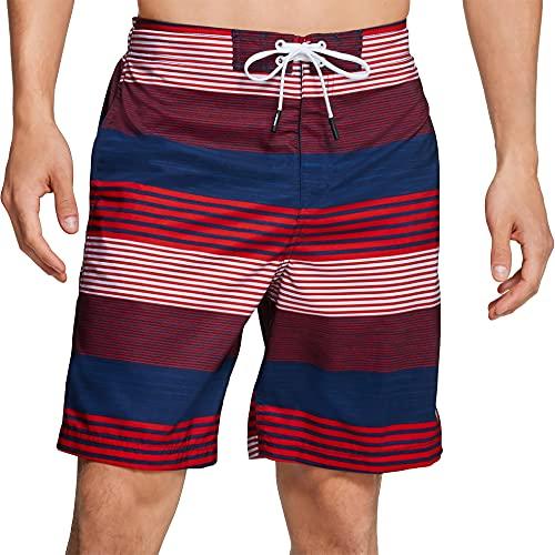 Speedo Herren Boardshort Bondi Printed Knee Length Badehose, rot/weiß/blau, Small