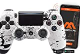 PS4 PRO Smart Soft Touch Rapid Fire Custom MODDED Controller Exclusive Unique Designs - CUH-ZCT2U… (Multiple Designs Available) (Splash White)
