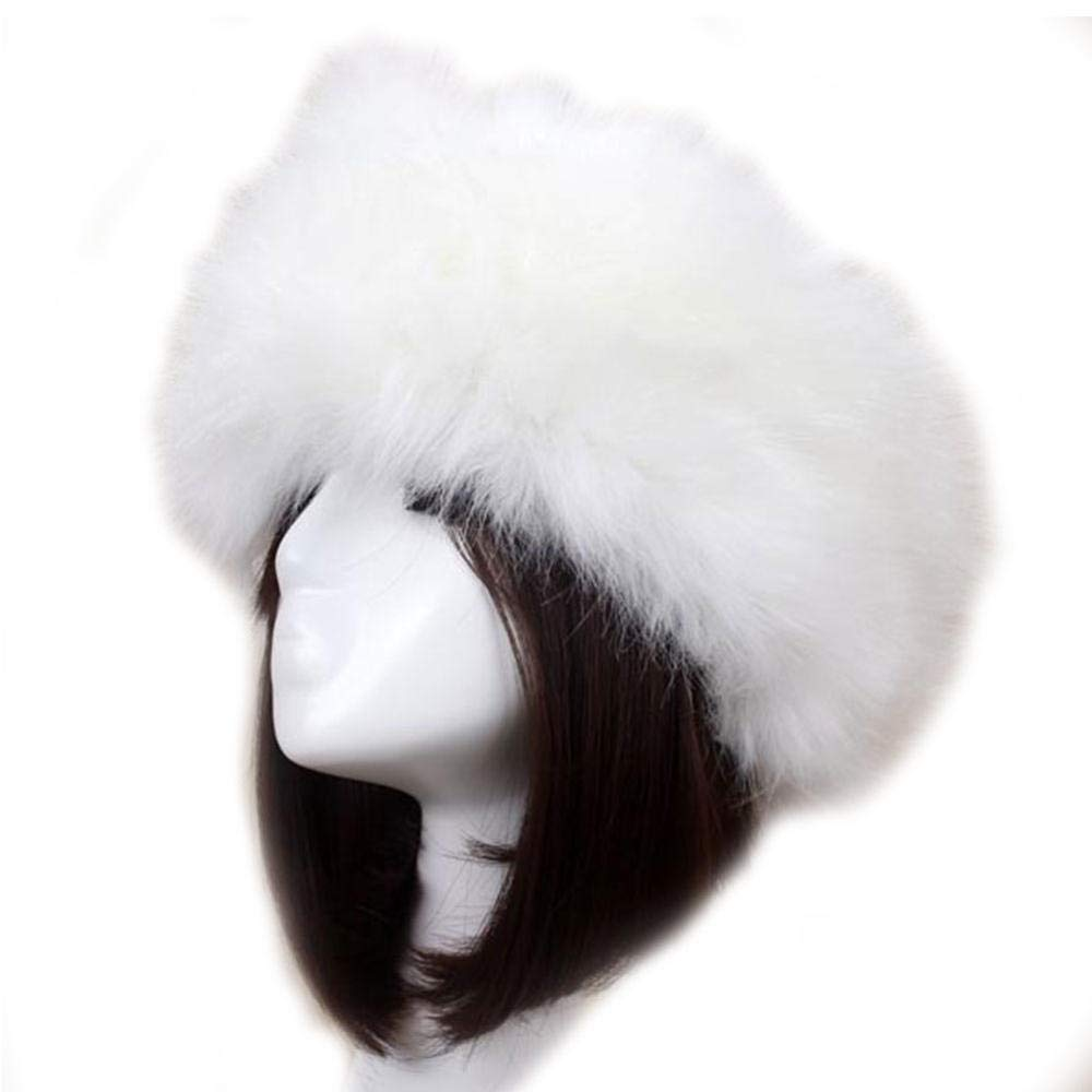 Winter Head Ware Thick Furry Hairband Fluffy Girl Fur Headband For Women With Elastic Hat Outdoor Ear Warmer Ski Hats cold weather Hair Accessory