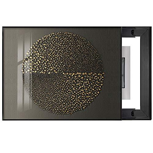 Quadro Decorativo per Quadri elettrici, Luce Ristorante Box Copertura può Spingere e Tirare Pittura Meter Decoration Quadro Elettrico per Quadro Elettrico (Color : A, Size : A)