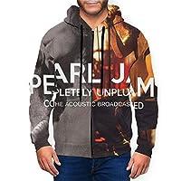 Pearl Jam パールジャム メンズレディースパーカージップアップ カジュアル フード付き プルオーバー 吸水速乾 快適 アウトドア 裏起毛 シャツ 長袖 スウェット 通気性 ポケット 付き トップス