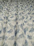 Tende Arredo Tessile Cortina por metro de Devorè de color negro con palmeras azules