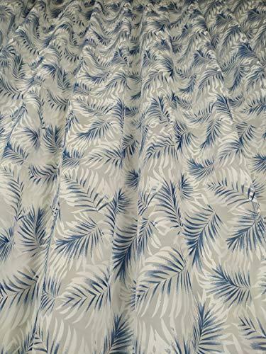 Tende Arredo Tessile Meterware, Meterware, aus Devoré, Höhe 3 Meter, Palme Blau