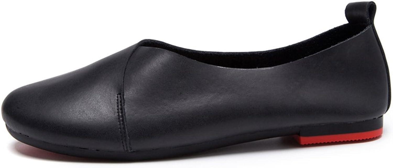 Xiaoyang Womens Round Toe Ballet Flats Ballerina shoes Black