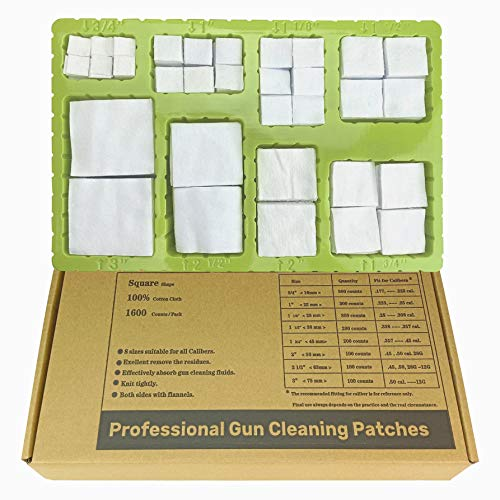 YOURBORE Gun Cleaning Patches kit Cotton Flannel Cloth...