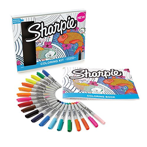 Marcador permanente Sharpie de punta fina, color varios colores Colouring kit