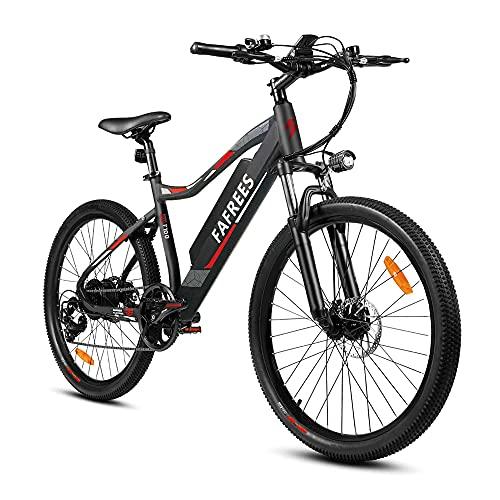 Fafrees 26' Bicicletta Mountain Elettrica 350 W, Bici Elettrica con Sony Batteria 48V11.6AH, Elettrica Mountain Bike con Pedalata Assistita,Shimano 7S,Velocità Massima di 33 km/h in 15 Secondi
