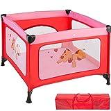 TecTake Kinder Reisebett Laufstall mit Babyeinlage - diverse Farben - (Pink | Nr. 402206)