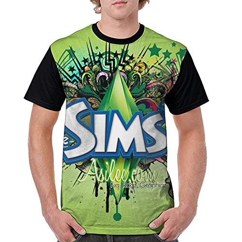 個性ザ・シムズ The Sims (3) 潮流 創意デザイ Tシャツ 半袖tシャツ 丸襟tシャツ 涼しい ゆったり 青少年 夏服 通勤 通学 運動 ティーシャツ