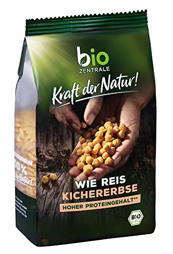 biozentrale wie Reis Kichererbse | 280g Reis aus Kichererbsenmehl Bio | Ideale Reis Alternative | Pasta & Nudeln Alternative