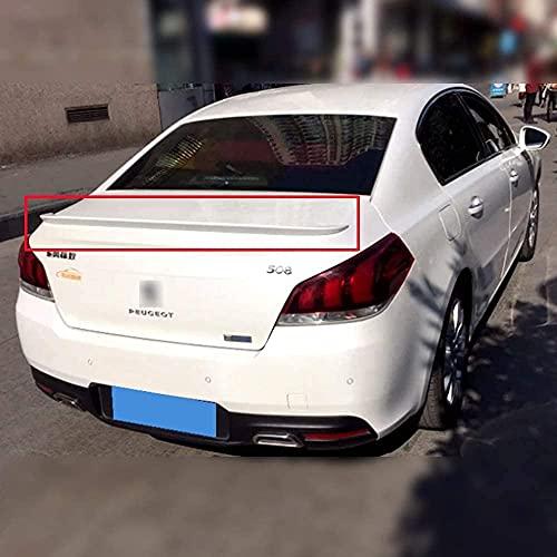 CHENGQIAN Alerones Traseros Abs De Coche para Peugeot 508 2011 2012 2013 2014 2015 2016 2017, Techo Labio ala Tapa del Maletero Tailfin Wing Maletero Parachoques Difusor Accesorios