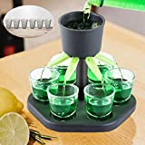 Mifflin Infinity Shot Glass Dispenser – 6 Shot Glass Dispenser – Drink Dispenser for Cocktails, Wine and Spirits – Easy to Pour – Beverage Dispenser for Parties and Bars – Includes 6 Shot Glasses
